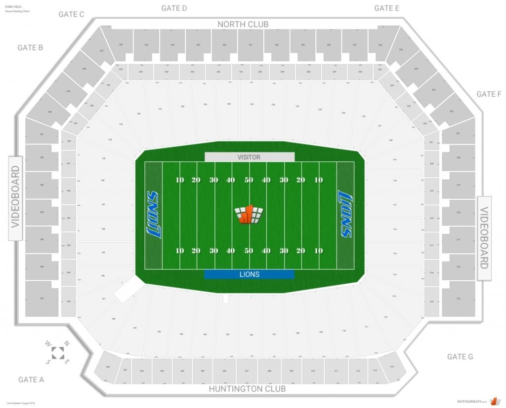 The Incredible Ford Field Seating Chart With Row Numbers