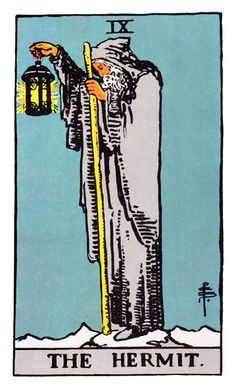 Image result for THE HERMIT TAROT CARD RIDER WAITE