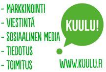 Kuulu tarjoaa markkinointi- ja viestintäpalveluita Oulussa. Annan myös sosiaalisen median koulutuksia, suunnittelen some-strategioita ja voin vaikka olla oman some-sisältönne ylläpitäjä. Myös tiedotus ja toimituksellinen sisältö kuuluu palveluihini.