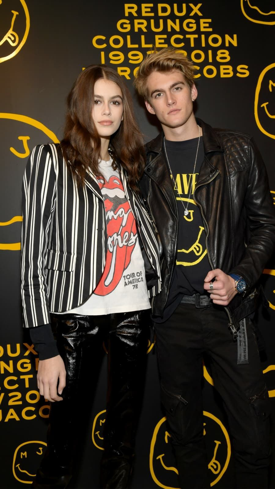 Kaia Gerber and Presley Gerber attend The Marc Jacobs