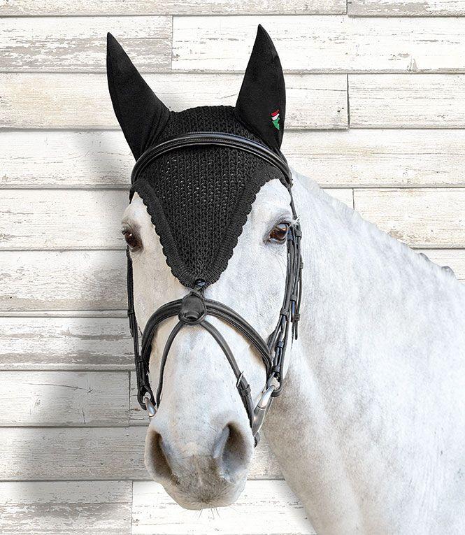 EAR NET FLY VEIL CROCHET 14 COLORS WITH DIAMONDS FULL SIZE HORSE RIDING