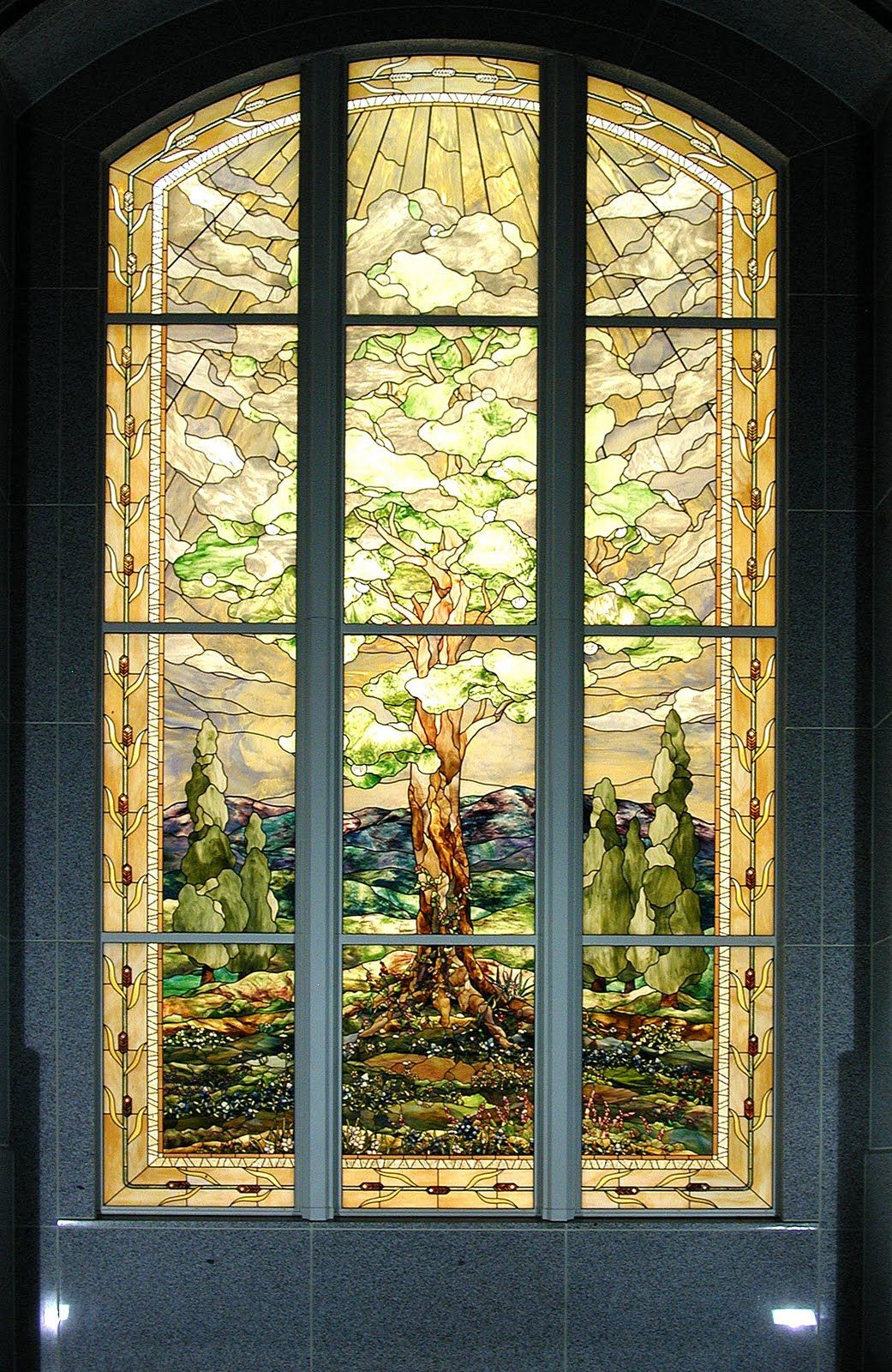 San Antonio Texas Lds Templestained Glass Windowby Tom