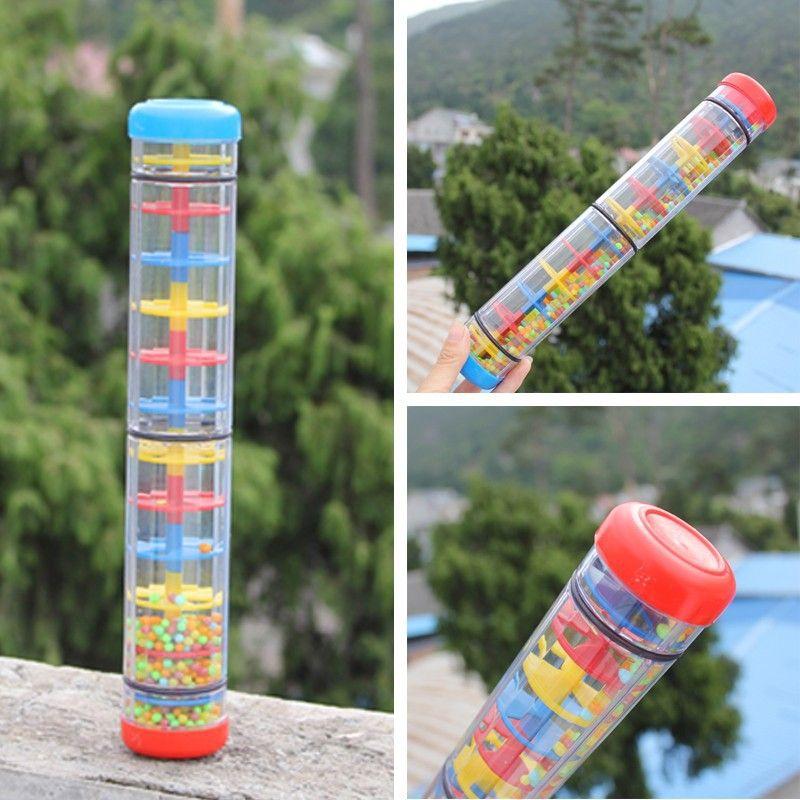3 Tamanho Do Bebe Chocalho De Som Da Chuva Brinquedos Orff Musica Instrumental Rainmaker Shaker Criancas Na Primeira Baby Rattle Educational Toys Baby Brand
