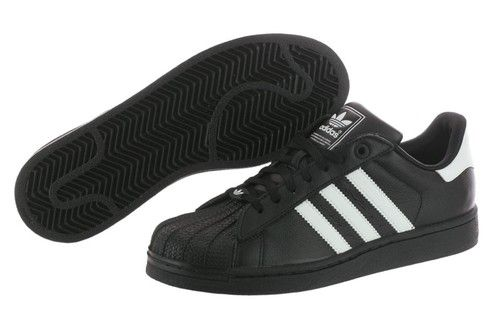 1d61f9e70e2b Adidas Superstar 2 G04531 Black Originals Leather Casual Shoes Youth   Women