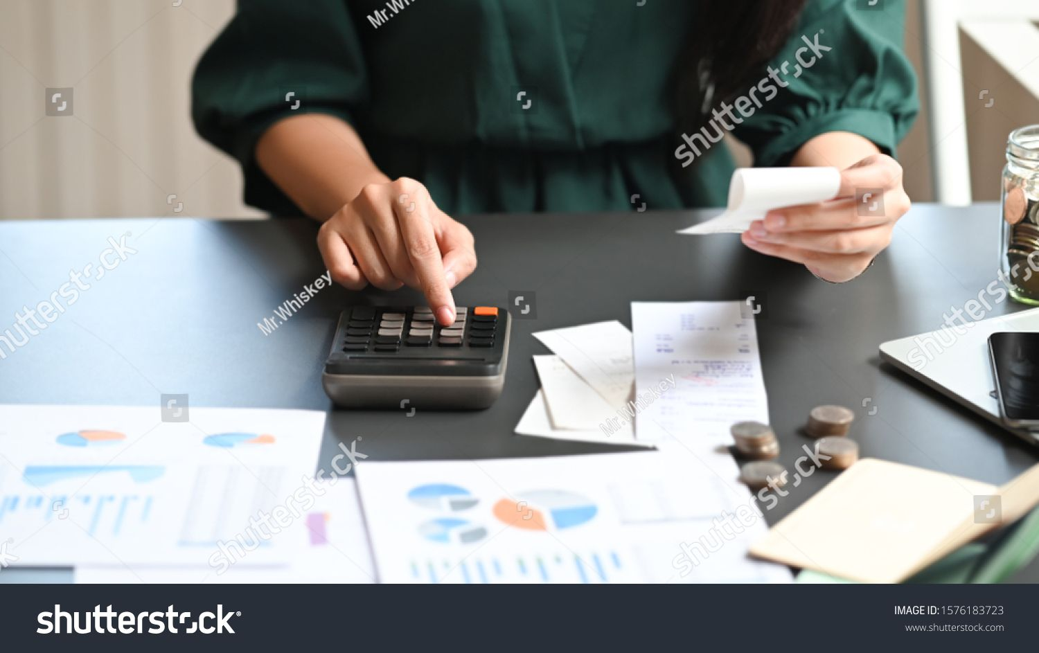 Financial Planning Concept Closeup Woman Calculate Billing With Finance Home Saving Royalty Free Image Photo Financial Planning Financial Financial Planner
