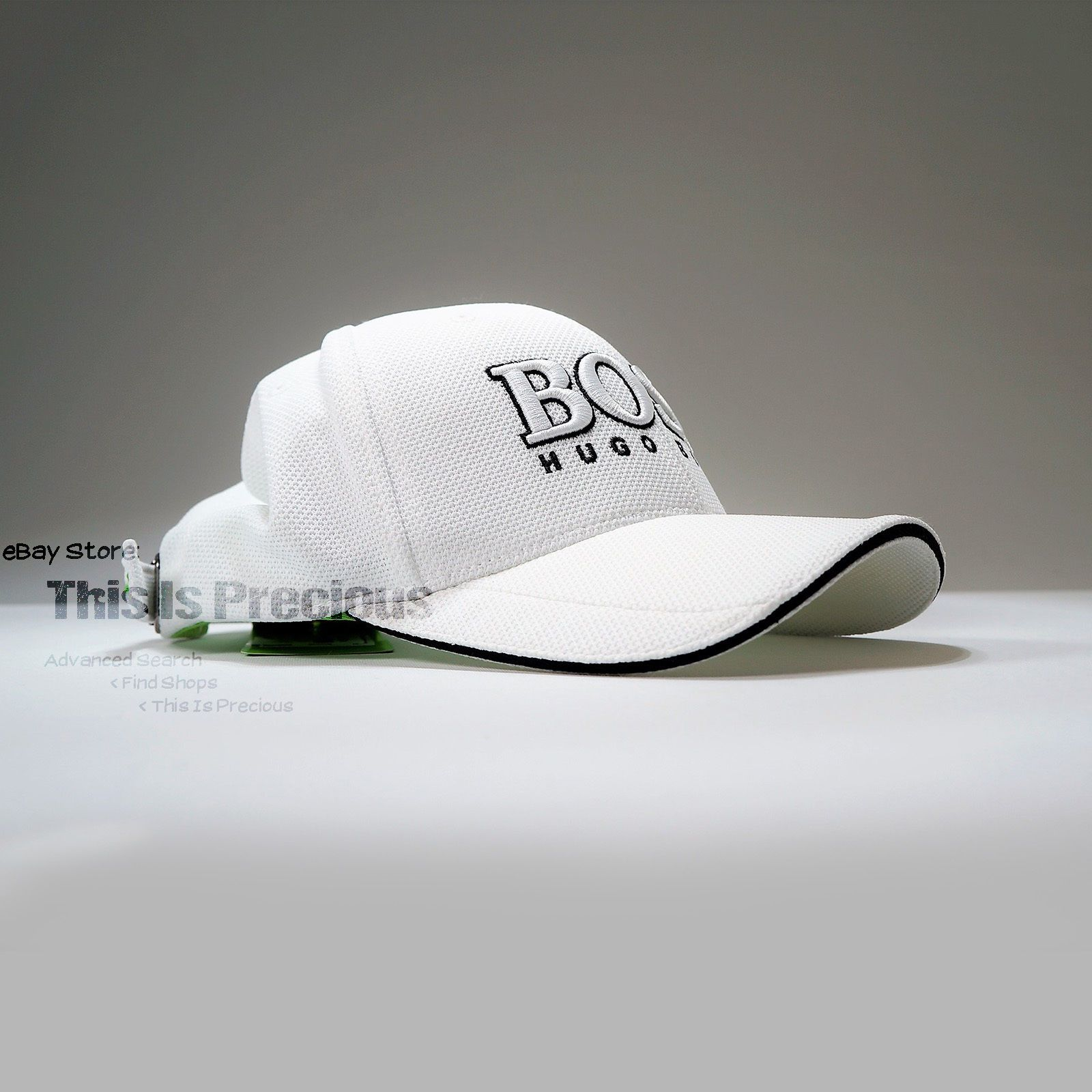 New Hugo Boss Golf Hat Curved Bill No Flat Visor Baseball Cap Strap  Adjustable  fa4b6232afc1