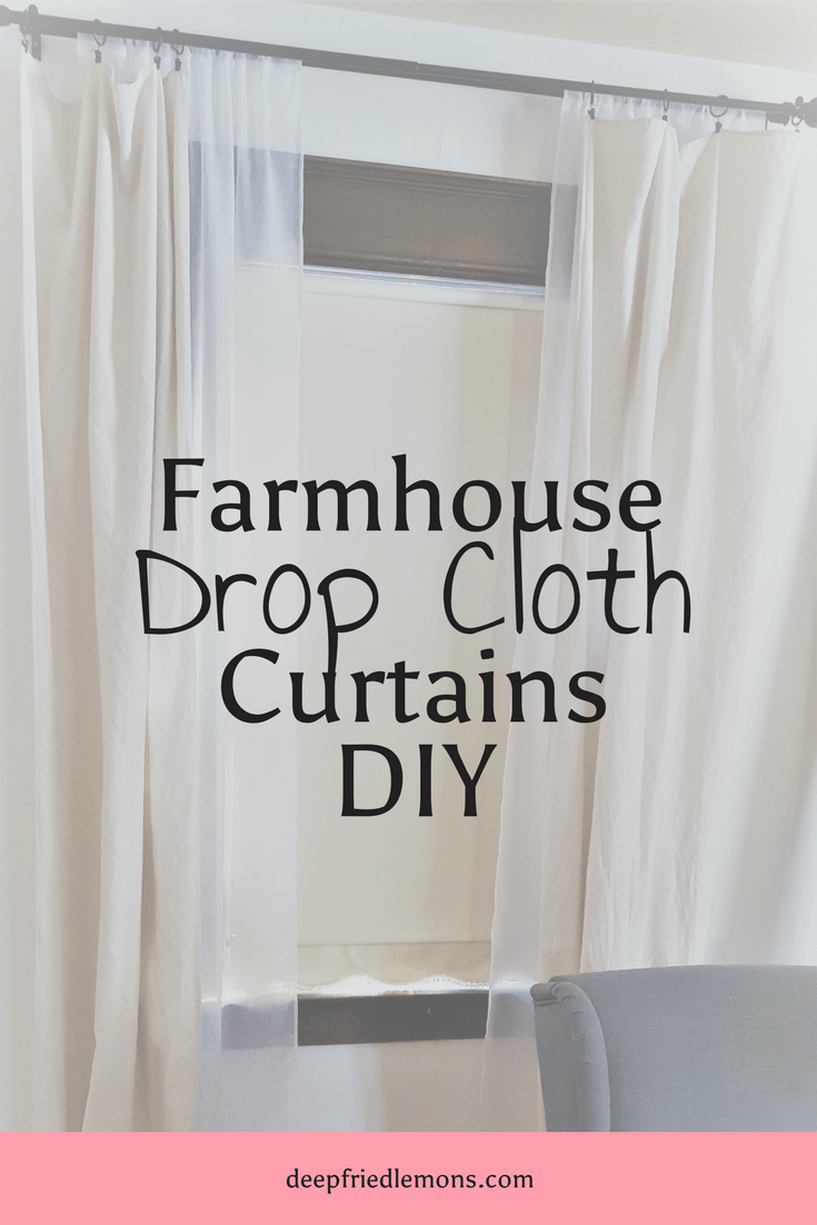 Farmhouse Drop Cloth Curtain Diy Drop Cloth Curtains Double Rod