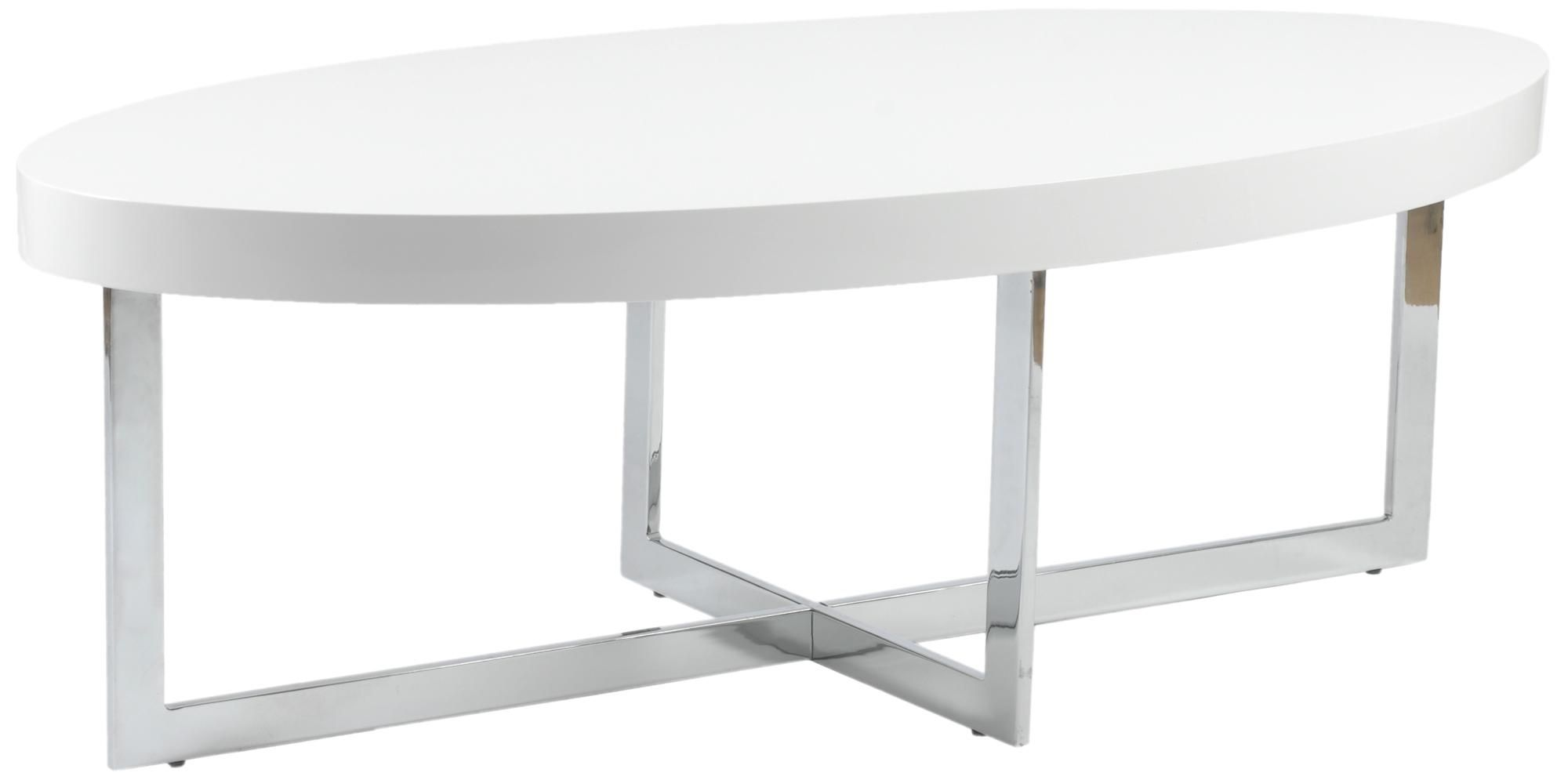 Oliver Oval Chrome And High Gloss White Coffee Table 2f979 Lamps Plus Coffee Table Contemporary Coffee Table Oval Coffee Tables
