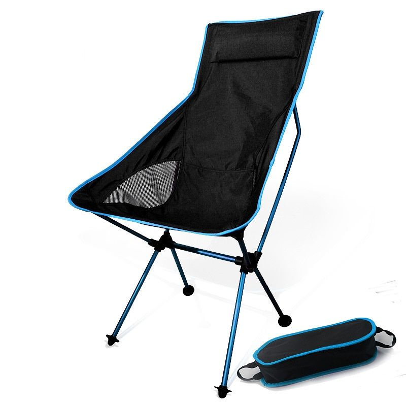 Lightweight Garden Chairs Outdoor Portable Fishing Folding Camping Chair 7075 Al Train Travelling Ultralight Black Small Seat Furniture