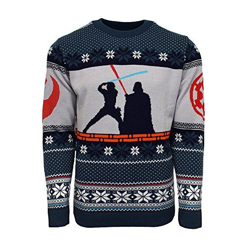 New Official Star Wars Luke Vs Darth Christmas Jumper/Ugly Sweater
