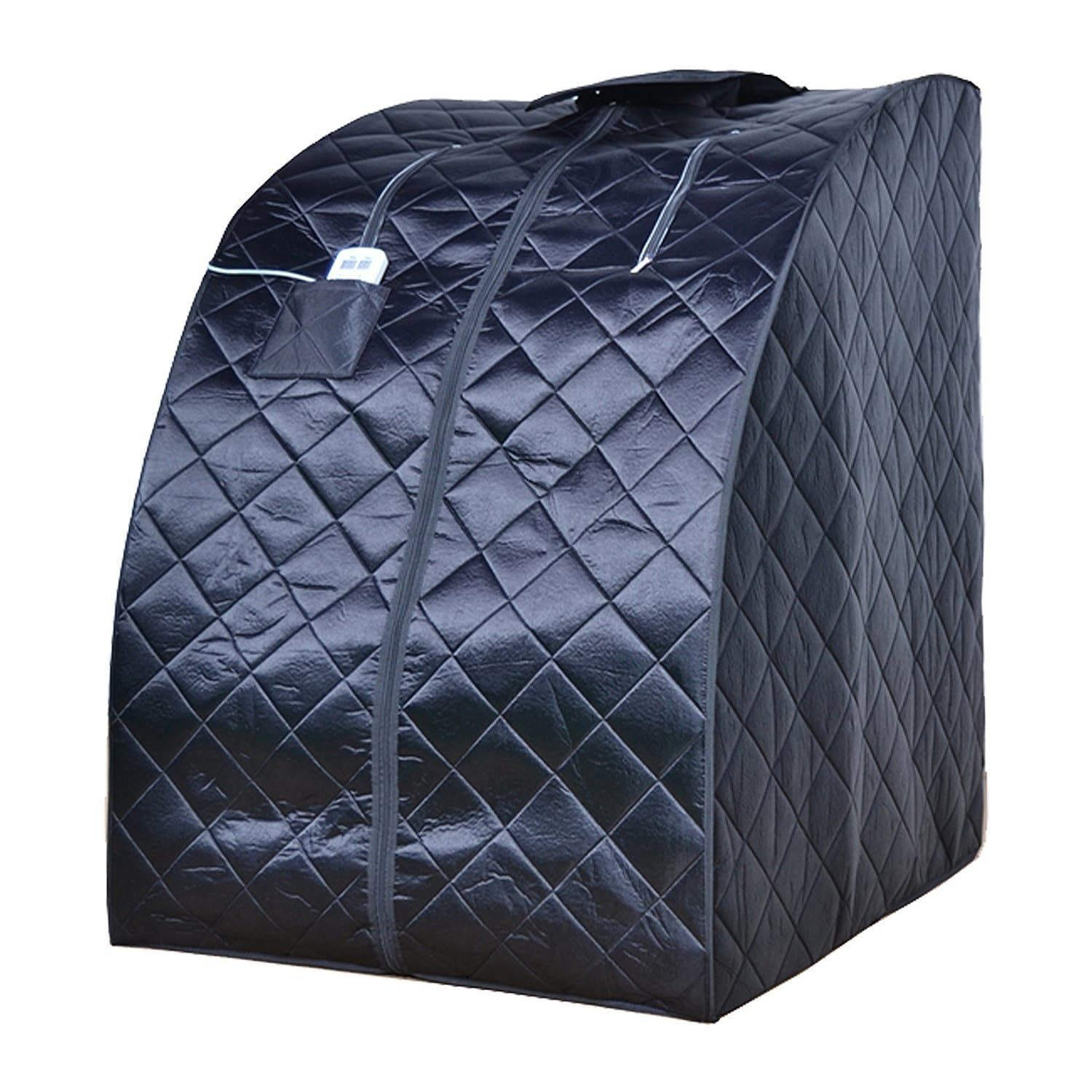 Aleko Personal Folding Home Infrared Sauna with Folding Chair Foot ...