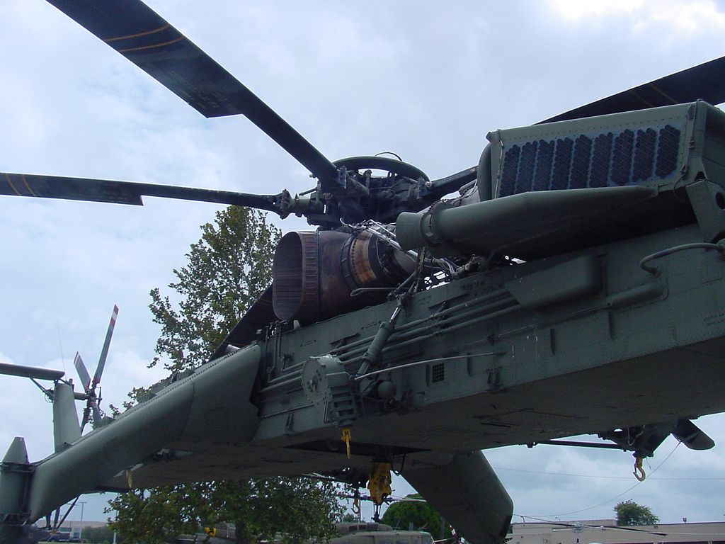 CH54 skycrane of the first cavalry division carrying a