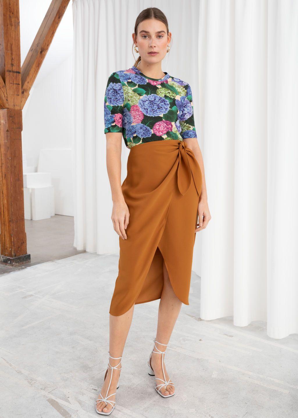 Skirtsamp; Wrap Sarong Midi Stories Rust Other Skirt knXOP80wN