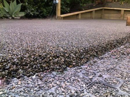 Permeable Paving Stoneset Laid Over Gravel Cell