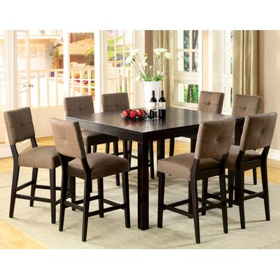 Hokku Designs Grant 7 Piece Counter Height Dining Table Set In Espresso