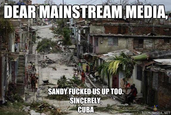 Dear mainstream media #sandy