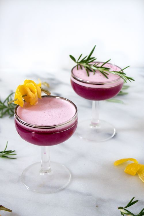 Photo of Recipe: Blueberry Gin Sour — Unusually Lovely