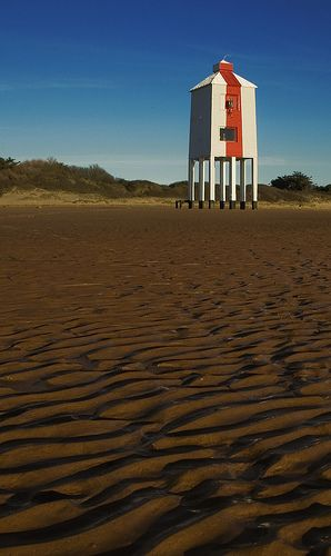at only 9 metres tall, the stunning 'low lighthouse' in burnham-on-sea, UK,  is one of the smallest you'll find. it was built in 1832 and is still in operation