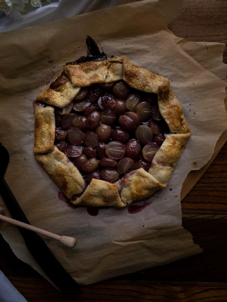 Roasted Grape Huckelberry Jam Galette | TermiNatetor Kitchen