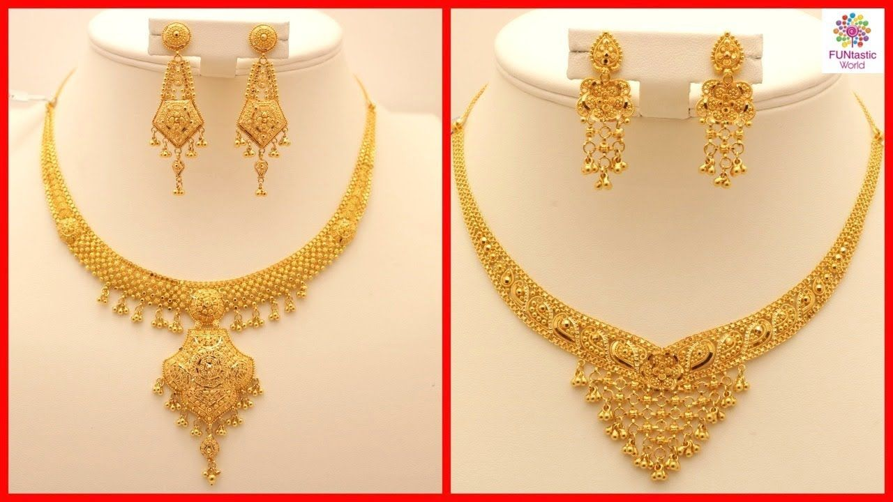 Excellent Gold Necklace Design With Weight And Price Images ...