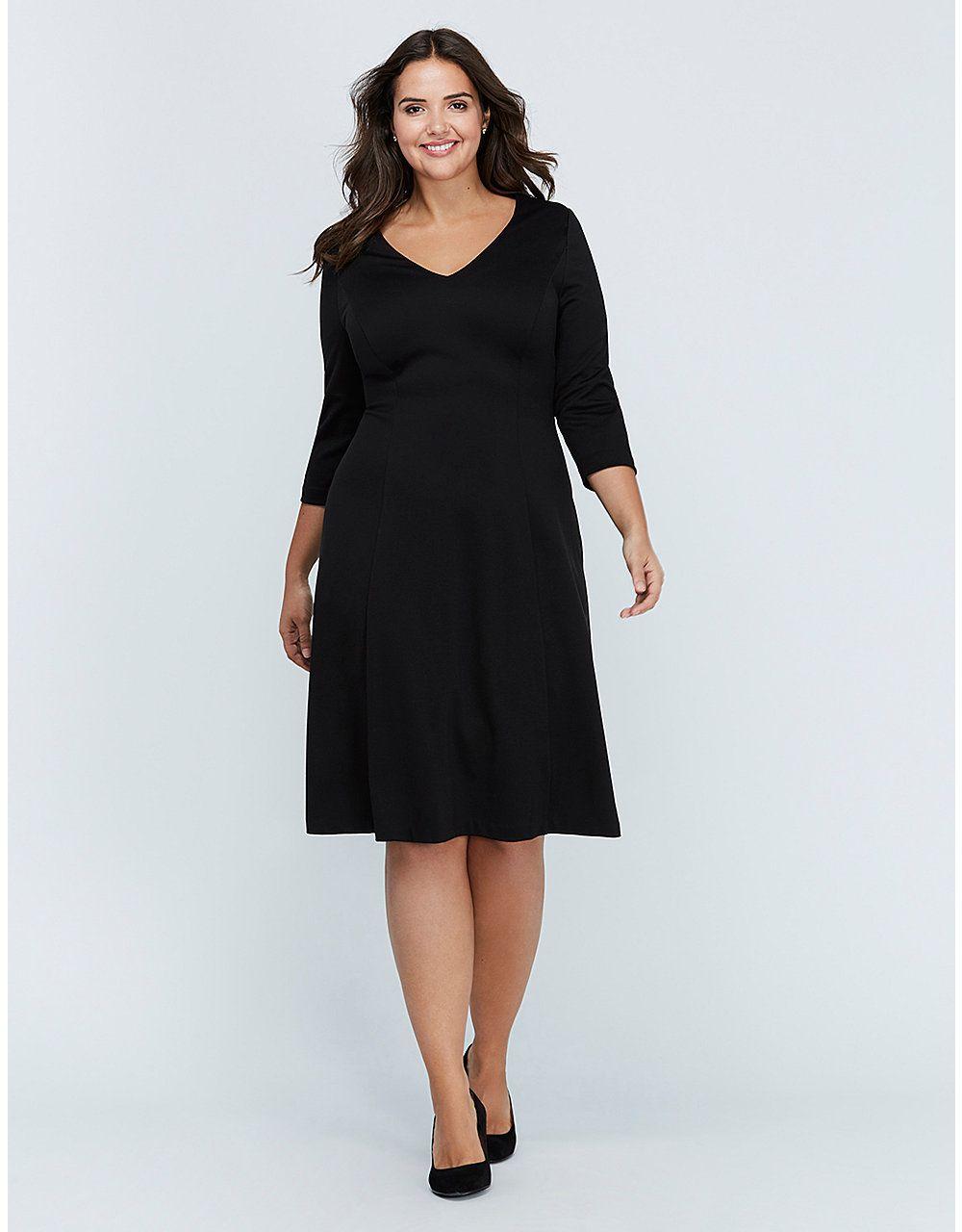 668365fdd9f2 Ponte Fit & Flare Dress | Lane Bryant | Passion for Fashion | Lace ...