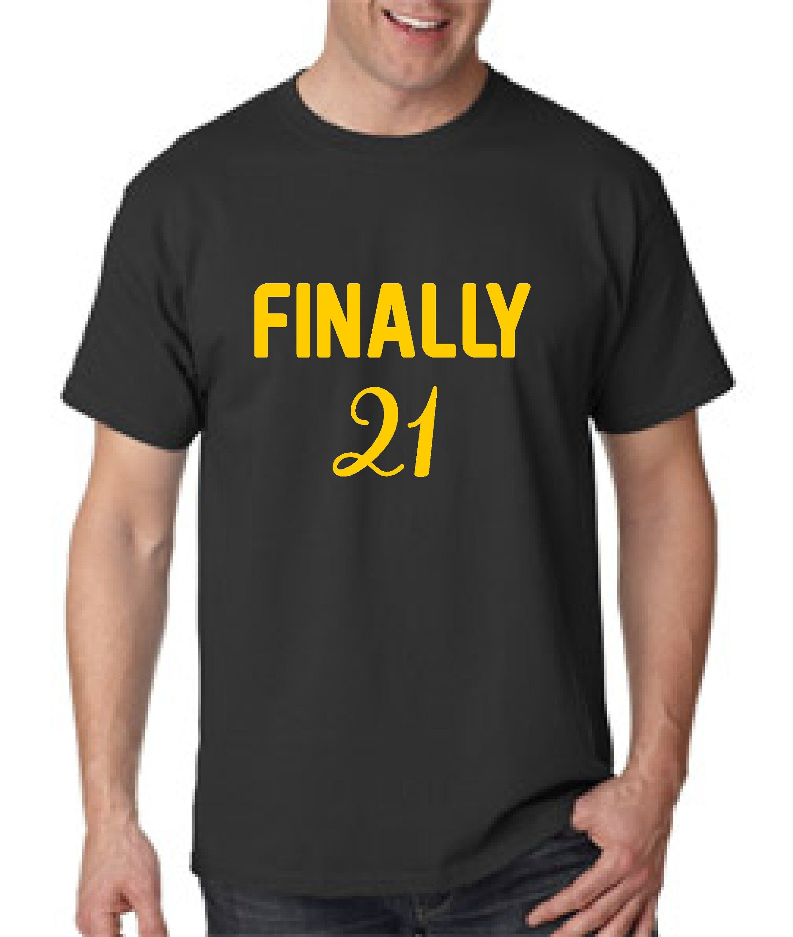 Mens Finally 21 Birthday Shirt