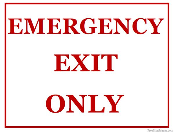 photo regarding Printable Exit Signs identify Printable Unexpected emergency Exit Basically Indicator Doorway Indications Unexpected emergency