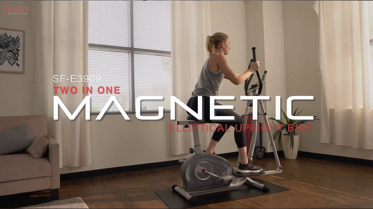 Sunny Health Fitness Sf E3903 2 In 1 Magnetic Elliptical Upright