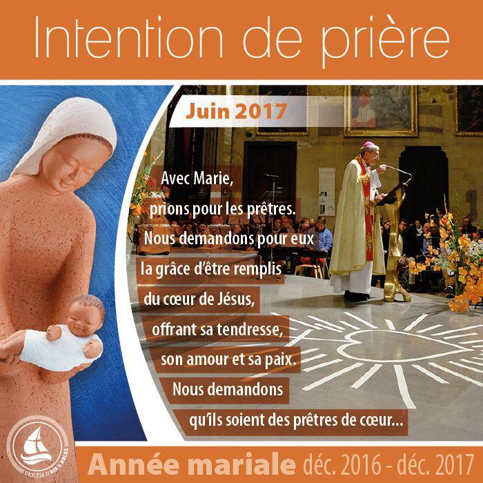 ANNÉE MARIALE : INTENTION DE PRIÈRE POUR LE MOIS DE JUIN
