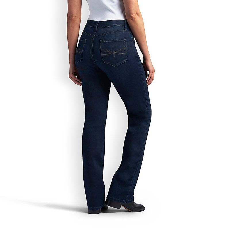 Lee Women's Platinum Label Comfort Fit Lydia Barely Bootcut Jeans ...