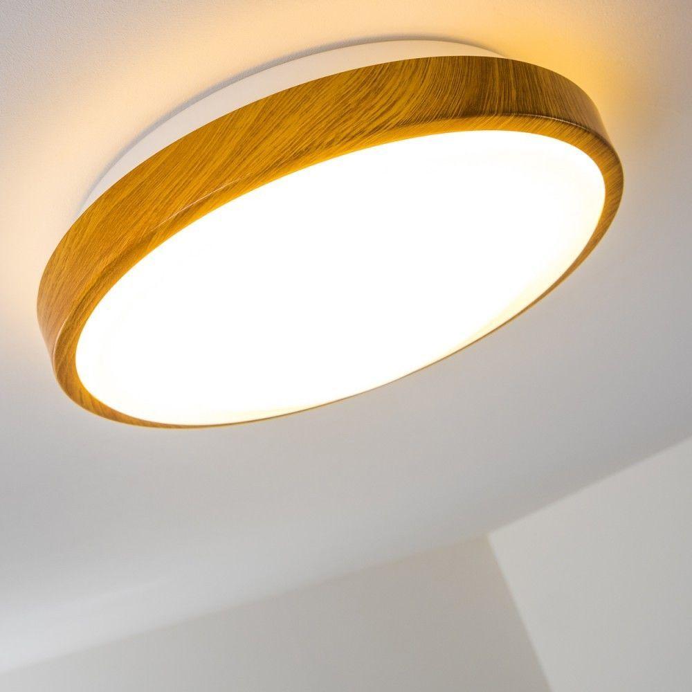 Led Decken Lampe Flur Kuchen Wohn Zimmer Bad Ip 44 Holzdekor Himmel