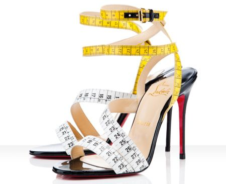 c0307676a624 Christian Louboutin Measuring Tape Shoes -- Imagine these with a vintage  shirtdress!!