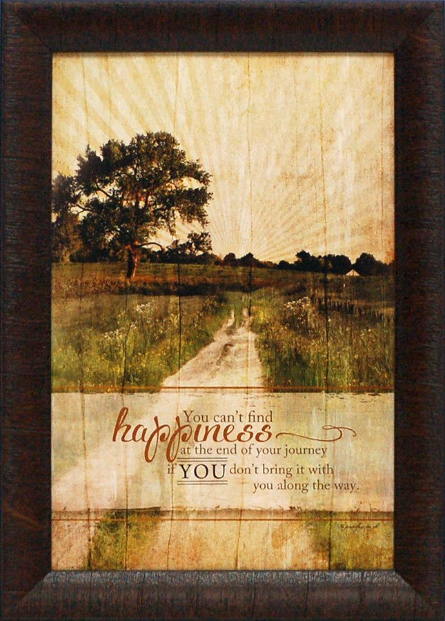 You can't find happiness Framed Graphic Art