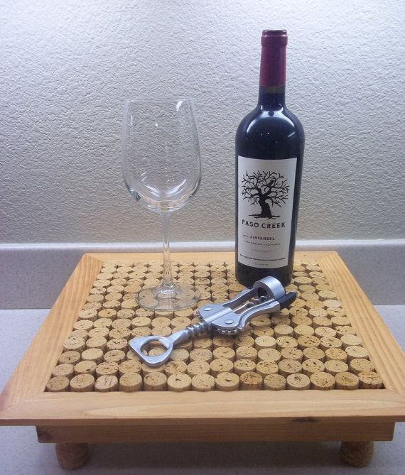Wine Cork Table Design: DIY Wine Cork Table Empty Light Stain FREE By