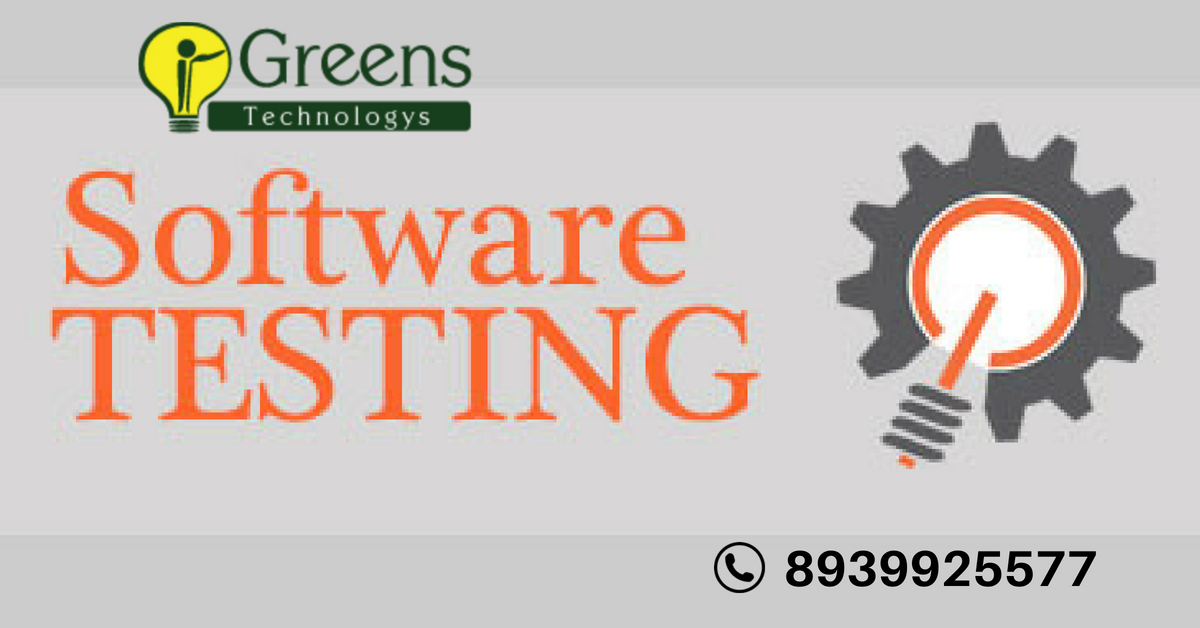 Greenstechnologys Is The No 1 Best Softwaretesting Training