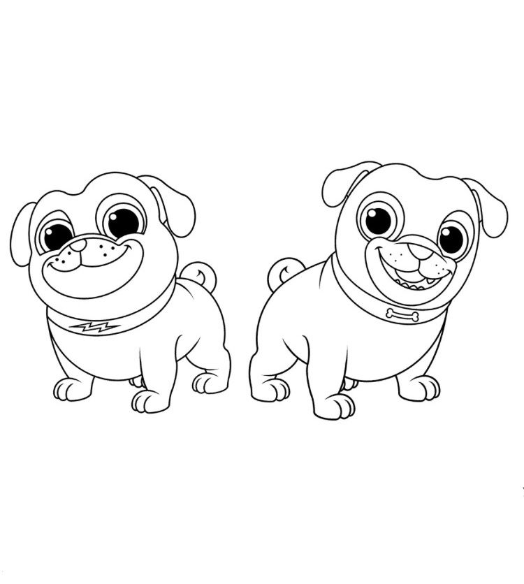 Puppy Dog Pals Coloring Page Bob Bingo And Rolly Rainbow Playhouse Coloring Pages For Kids Imprimiveis Colorir Bingo