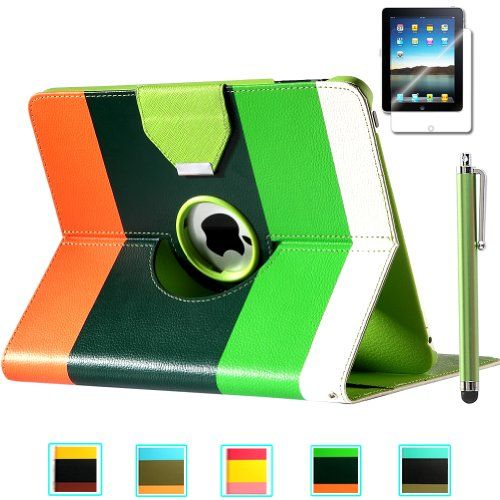 Pandamimi ULAK(TM) 360 Degree Rotating PU Leather Wallet Type Magnet Design Flip Case Cover for Apple iPad 1 1st Generation With Stylus and Screen Protector (Green+Dard Green+Orange) ULAK http://www.amazon.com/dp/B00GFH6HMW/ref=cm_sw_r_pi_dp_rz7Vtb0FQG4YKTR0