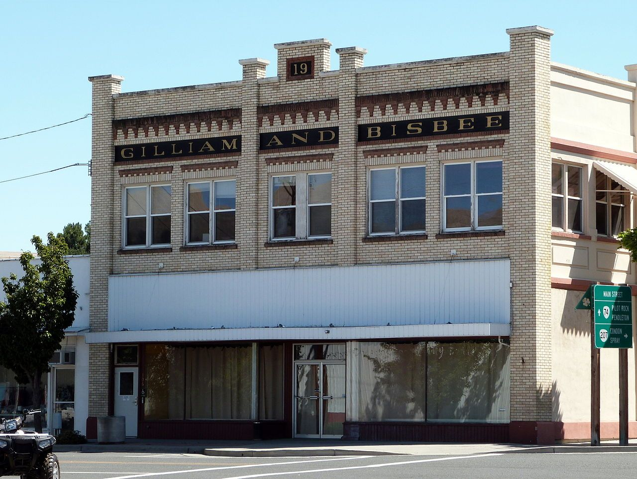 Gilliam and Bisbee Building in Morrow County, Oregon.