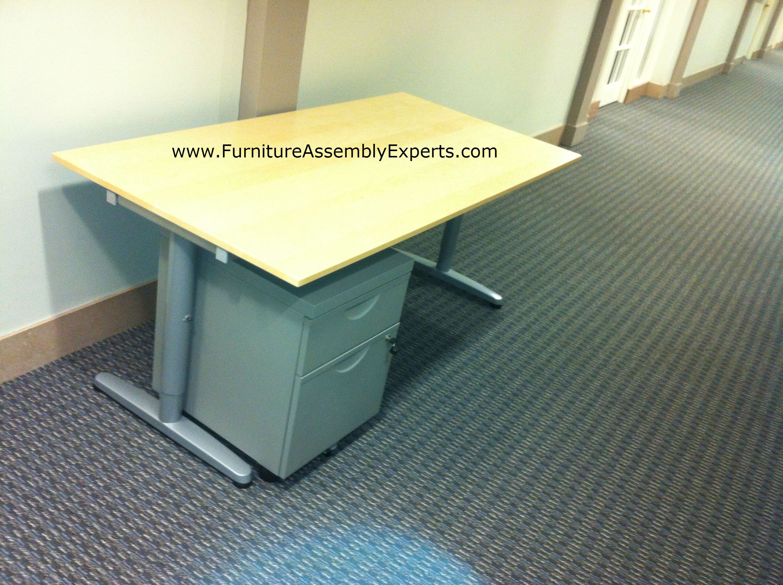 ikea galant desk and file cabinet assembled in lorton va by