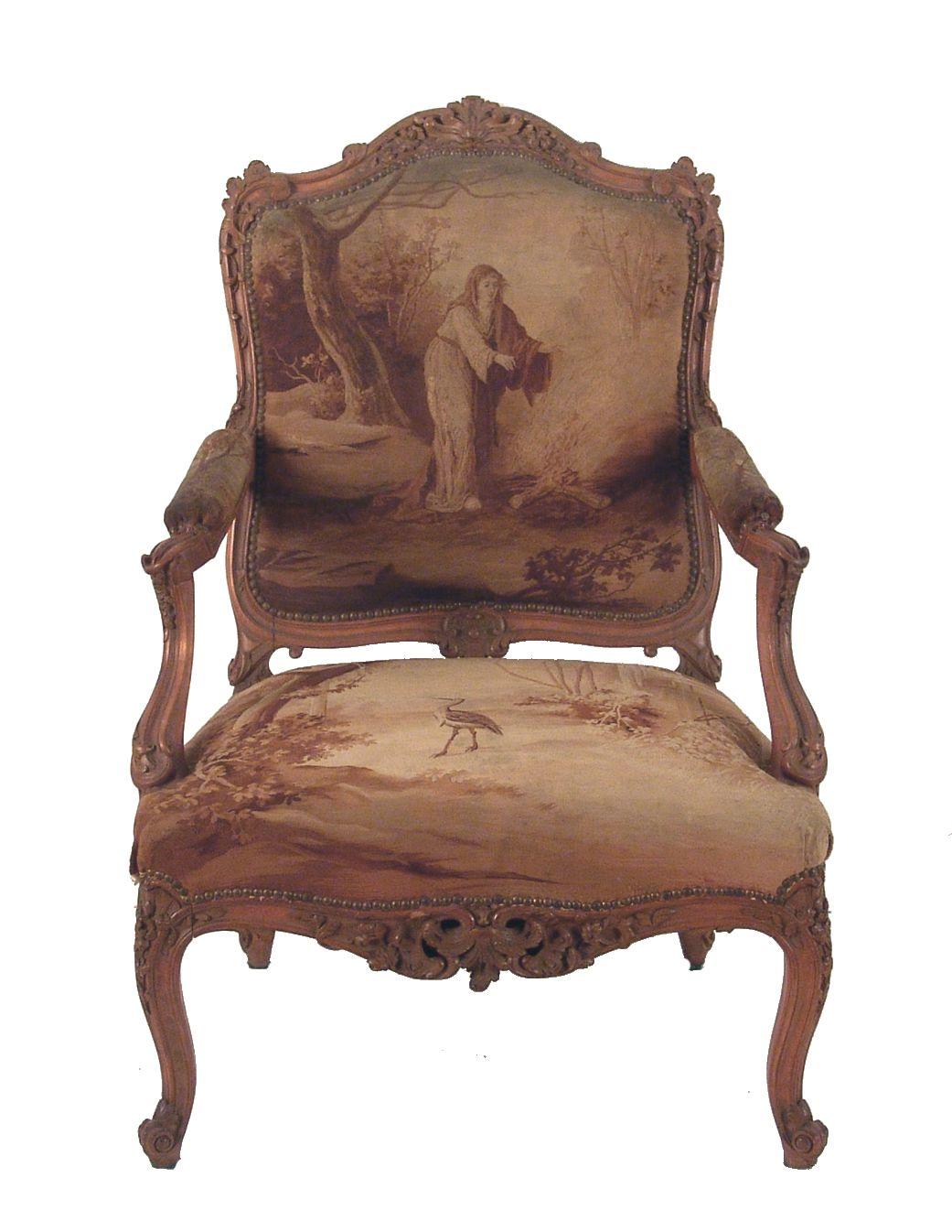 Detalle de imagen de cuatro sillones estilo luis xv for Muebles antiguos luis xv