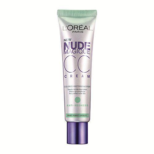 Amazon.com : L'Oreal Paris Nude Magique CC Cream (Anti-Redness) : Foundation Makeup : Beauty