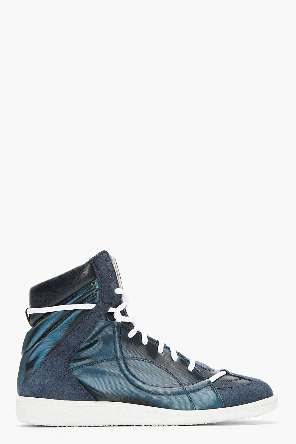 Rubber-trimmed Cotton-canvas High-top Sneakers Maison Martin Margiela
