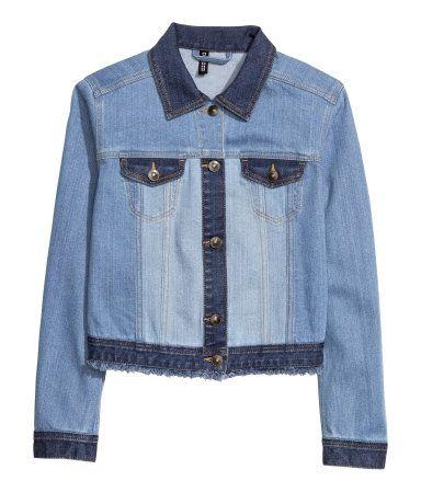H&M Jeansjacke blau Casual Look