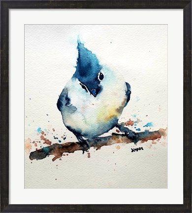 Oiseau, art animalier, art de chambre pour enfant, mésange originale, aquarelle …