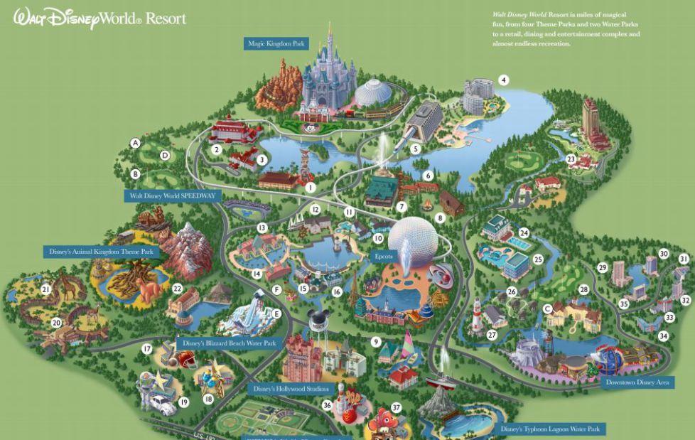 Orlando walt disney world resort map