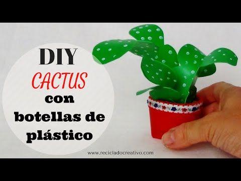 Miniaturas de jardiner a diy con botellas de pl stico - Manualidades de jardineria ...