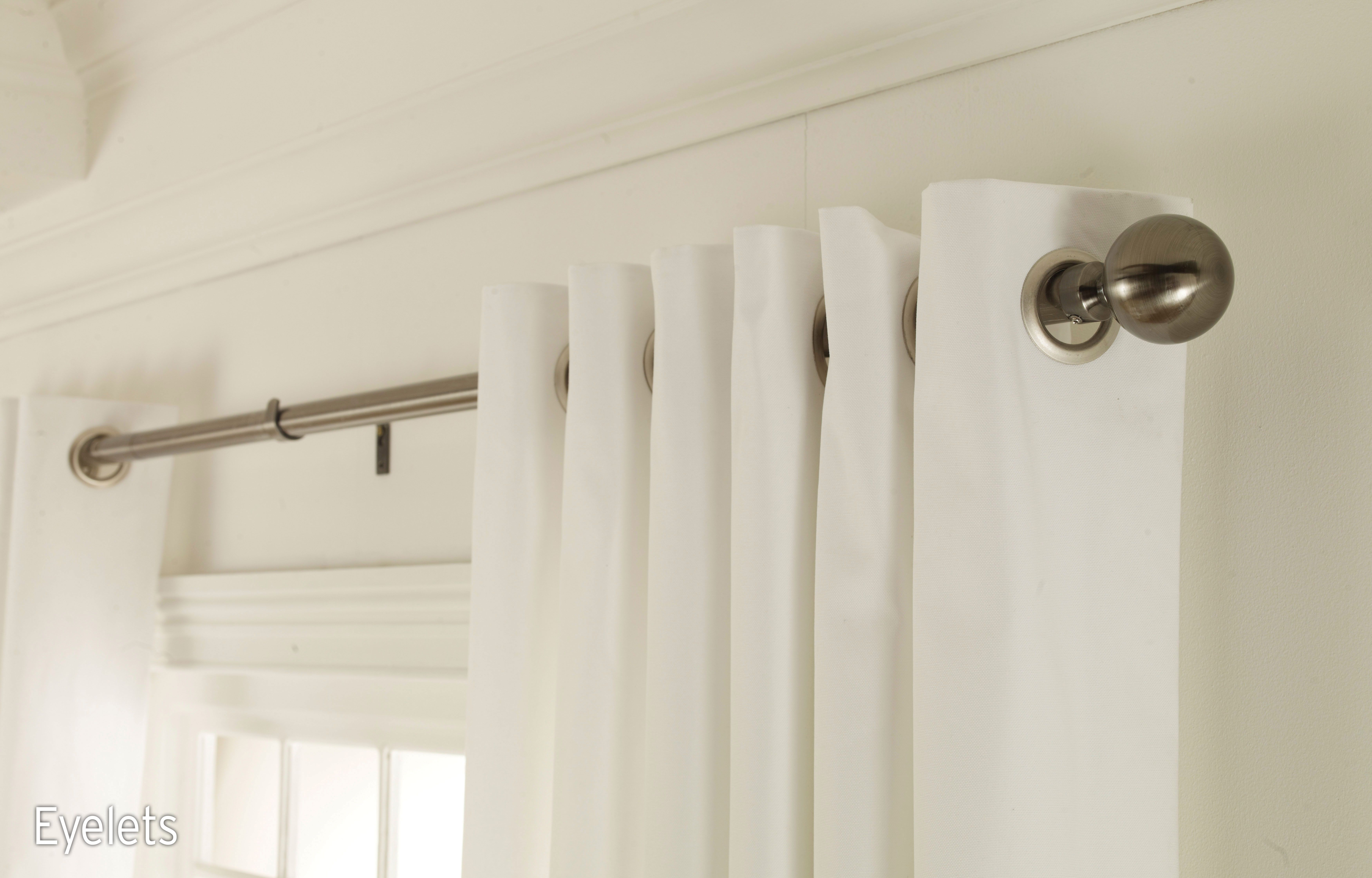 View our Eyelet curtains from Hillarys  available in a wide range of     Customise your curtains with eyelets for neat contemporary folds  Book an  in home appointment to see our curtain designs and accessories
