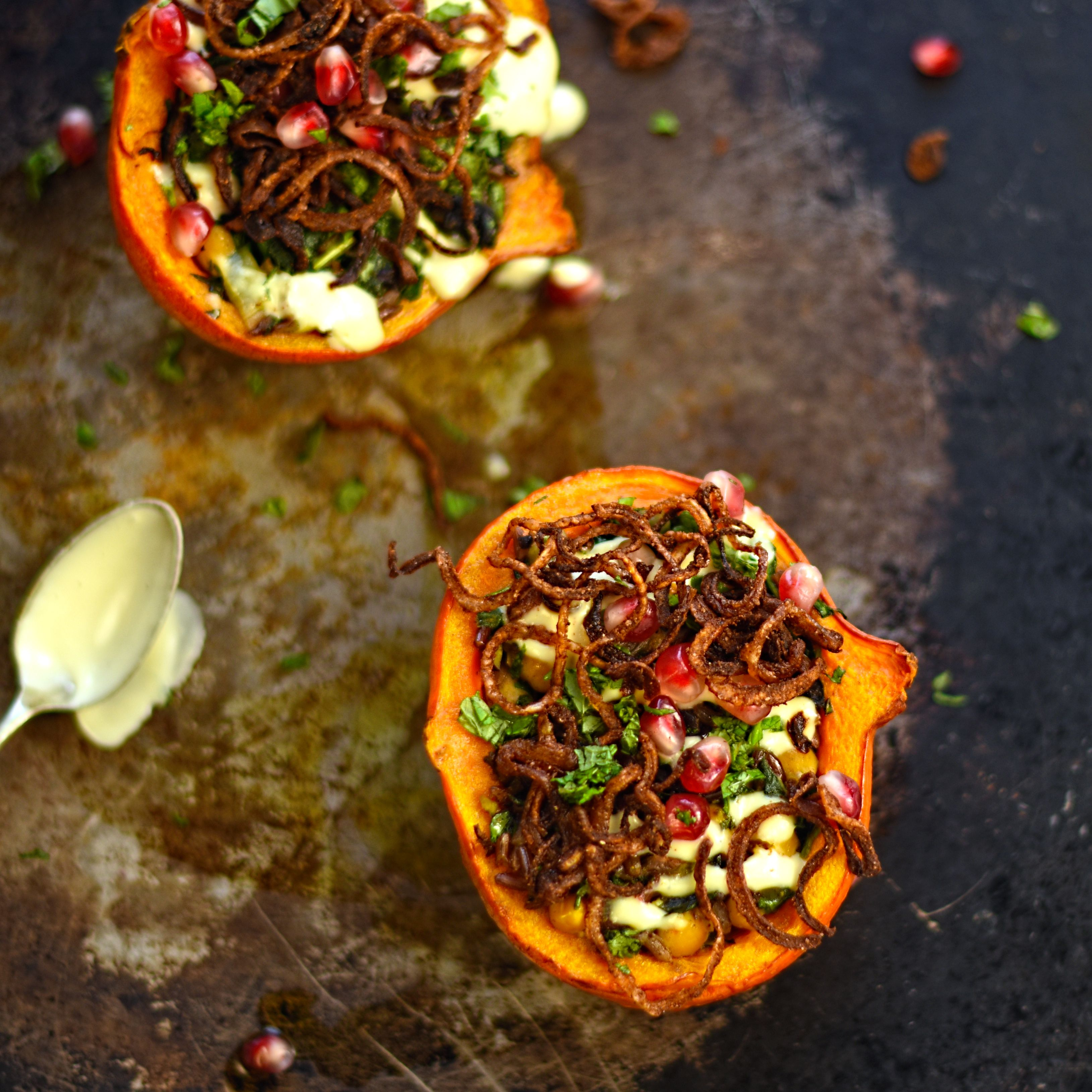 Persian stuffed squash with tahini sauce and cinnamon onions a persian stuffed squash with tahini sauce and cinnamon onions a sumptuous vegan dishesvegan forumfinder Images