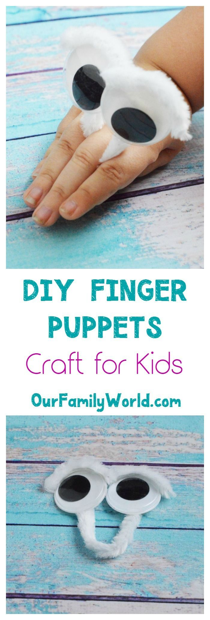 """This DIY Googly Eye Finger Puppet craft for kids isn't just a fun rainy day craft idea, it's also a great parenting tool to help your kids deal with emotions. Kids are often more willing to discuss their feelings through a """"proxy"""" than directly. Check out how easy it is to make this cute kids' craft, then read our parenting tips for how to use it to talk about anger, sadness and other feelings."""