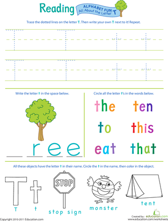 get ready for reading all about the letter t kids projects preschool worksheets alphabet. Black Bedroom Furniture Sets. Home Design Ideas